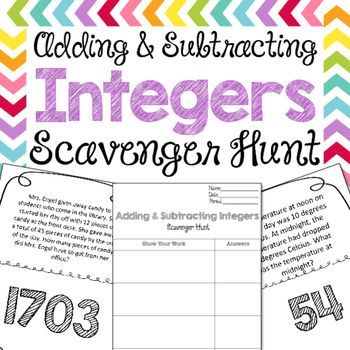 #msmsale This adding and subtracting integers scavenger hunt allow students to have a movement-based way of reviewing concepts to math problems. How are your scavenger hunts different from others?My scavenger hunts are completely different than anything on TPT, and anywhere else.