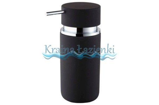 * 06593 round dozownik mydła czarny BISK