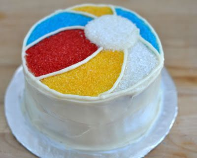 how to make a beach ball cake for a beach or summer pool party celebration. This birthday cake looks the bomb, it's seems pretty easy to make too.