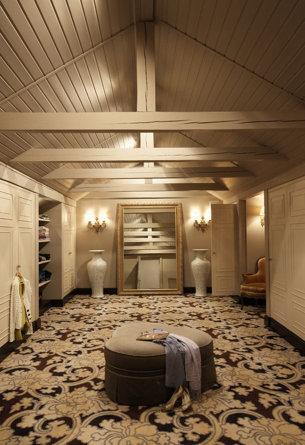Awesome Attic Turned Into A Useful Closet Instead Of A Dusty Storage Space...dreamy