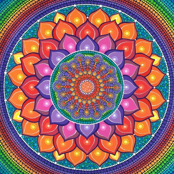 Lotus Rainbow Mandala Art Print by Elspeth McLean | Society6