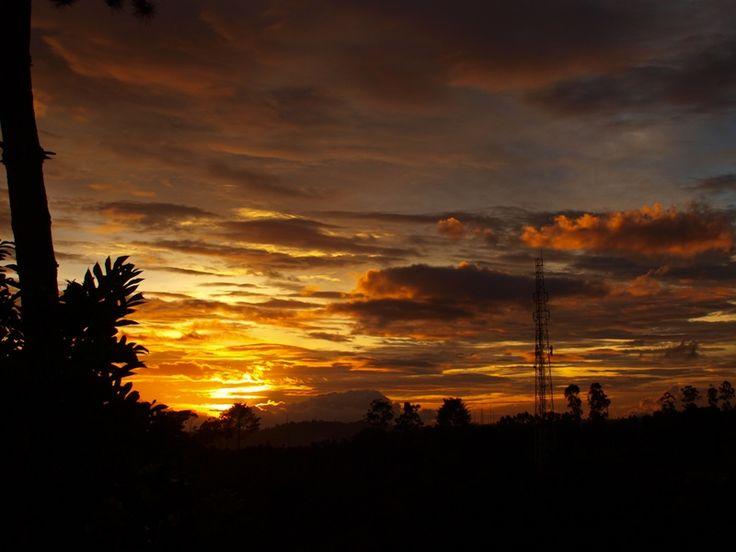 Sunset at Jayagiri 5th January 2015
