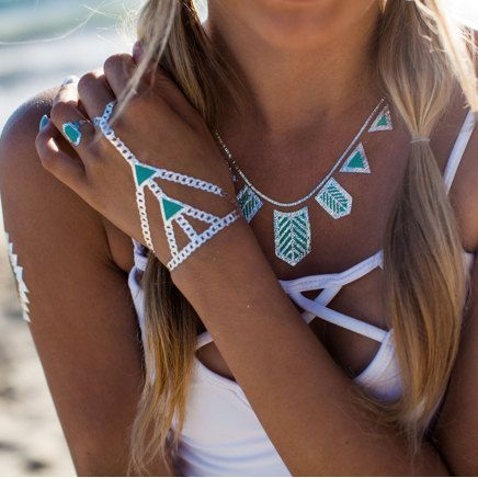 flash tattoos inspiration metallic tattoos