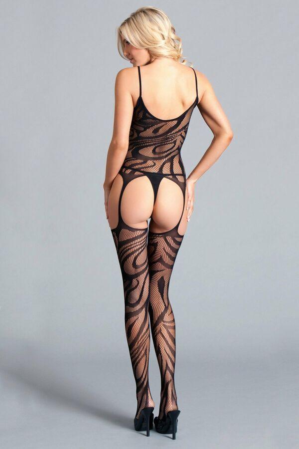 235ccabdf Be Wicked Spaghetti Strap Suspender Bodystocking Black Lace Lingerie  Hosiery Strap Suspender Wicked