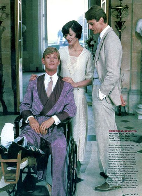 Lady Julia Flyte, Sebastian and Charles. ... Retorno a Brideshead