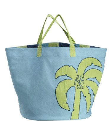 Loving this Surfer Blue Palm Tree Tote on #zulily! #zulilyfinds