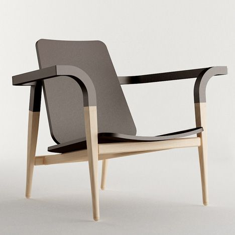 Hyung Suk Cho, Modernatique #design #produit #chaise #chair #black and #wood
