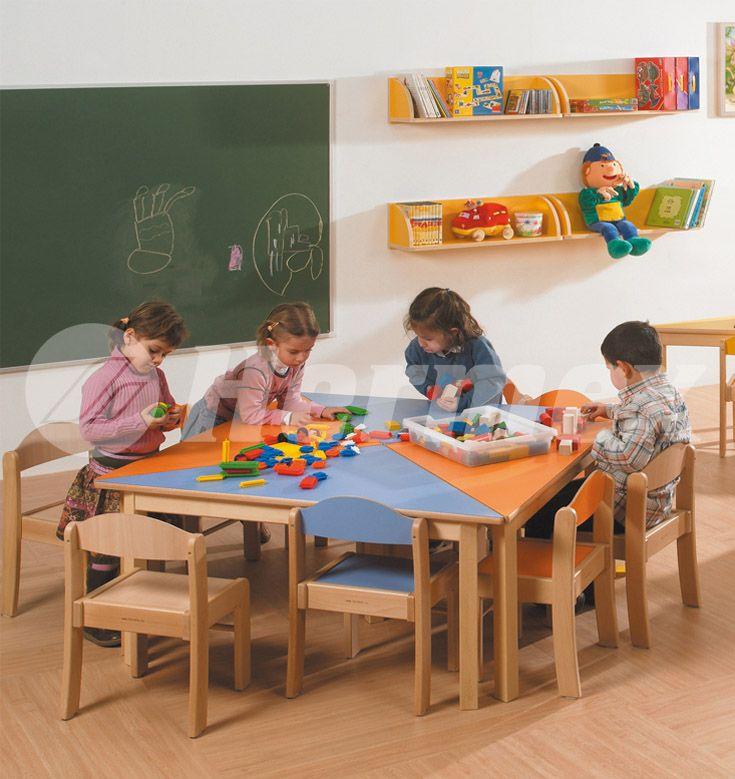 21 best images about mesas escolares on pinterest mesas for Mesas para preescolar
