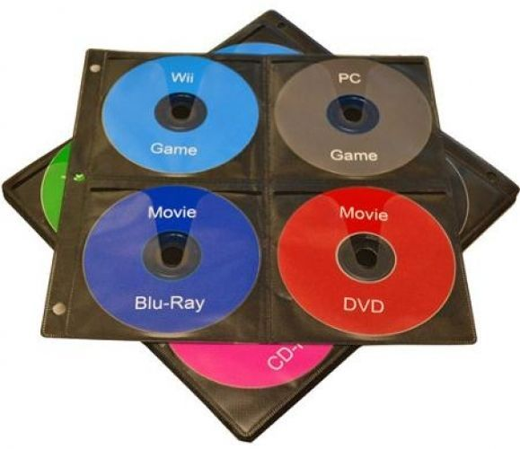 TekNmotion 20 CD Binder Pages, 8 CDs Per Page - 160 Disc Capacity #CDPage