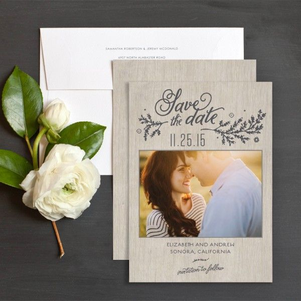Rustic Chic Save The Date Cards By Emily Crawford | Elli