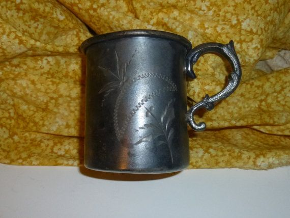 Vintage Silver Plated Baby Drinking Cup by TrueColorsBoutique
