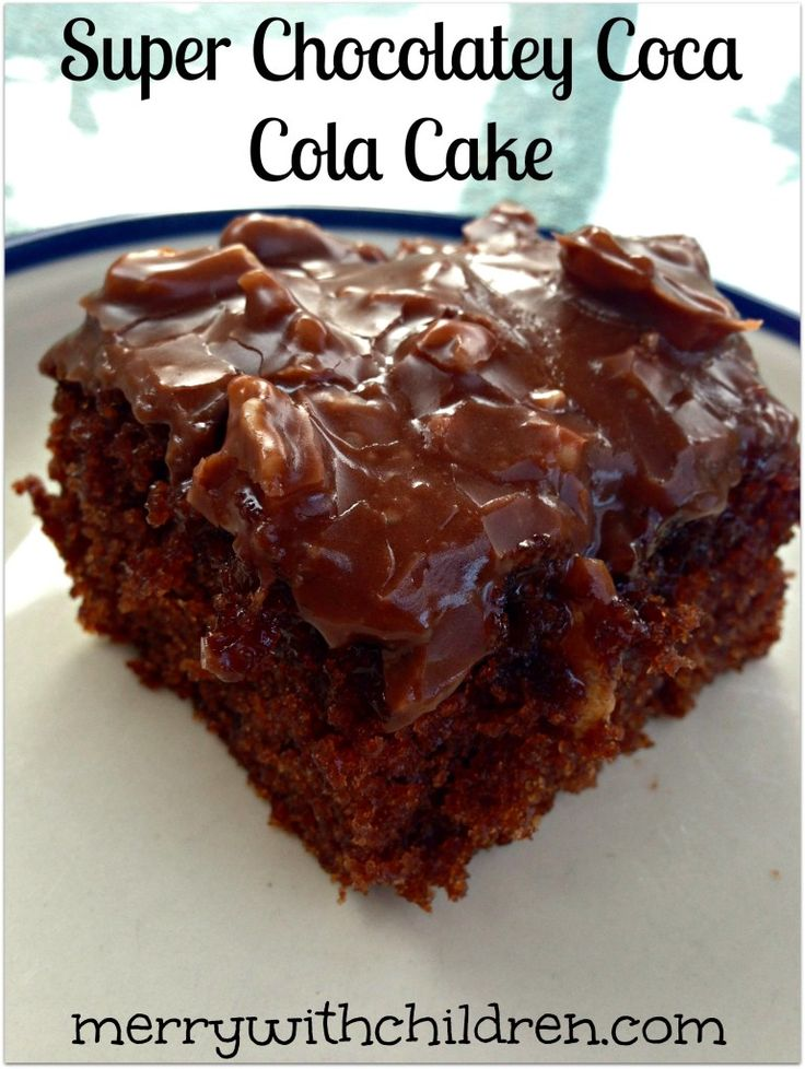 Super Chocolatey Coca Cola Cake - it's a southern thing y'all via htt...