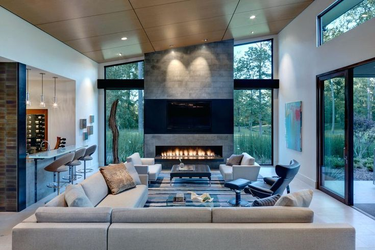 designer gas fireplaces linear gas fireplace living room with black leather chairs counter with linear fireplace modern gas fireplace inserts ventless