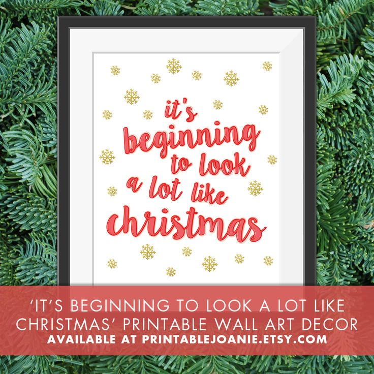 It's beginning to look a lot like Christmas Wall Art - Add this fun and unique Christmas Print to your holiday decor! You just have to print it at home or at any other store that offers printing service and place it in a frame!