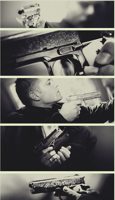 I was born with a six gun in my hand #DeanWinchester