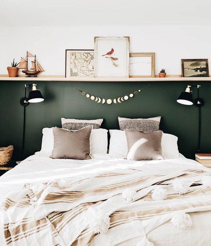 Trendy Home Office Design Dark Wood Benjamin Moore Ideas Bedroom Green, Home Bedroom, Master Bedrooms, Bedroom Furniture, Interior Ikea, Interior Design, Interior Office, Romantic Bedroom Decor, Bedroom Vintage
