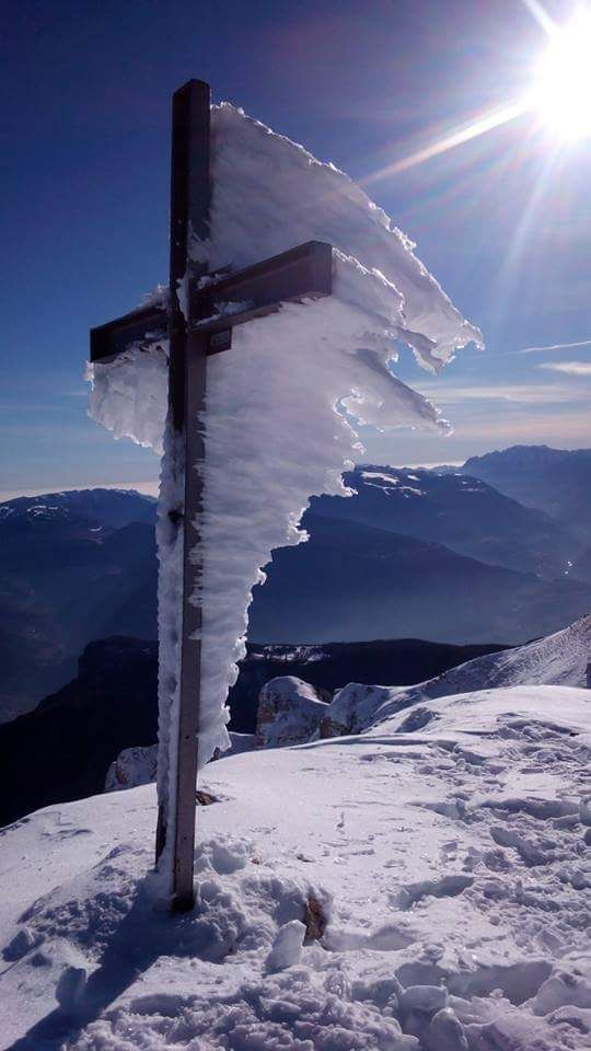 The power of winter on the Gran Sasso Mountain, Abruzzo, Central Italy.
