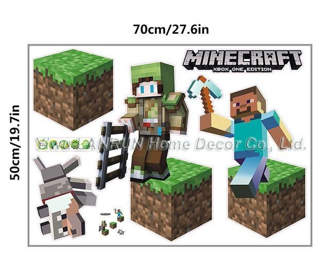 Newest Minecraft Wall Stickers 3D Wallpapers