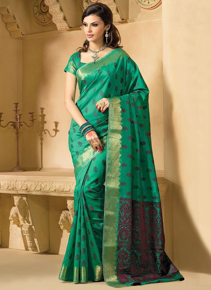 Honoured Green Kanchipuram Silk Saree