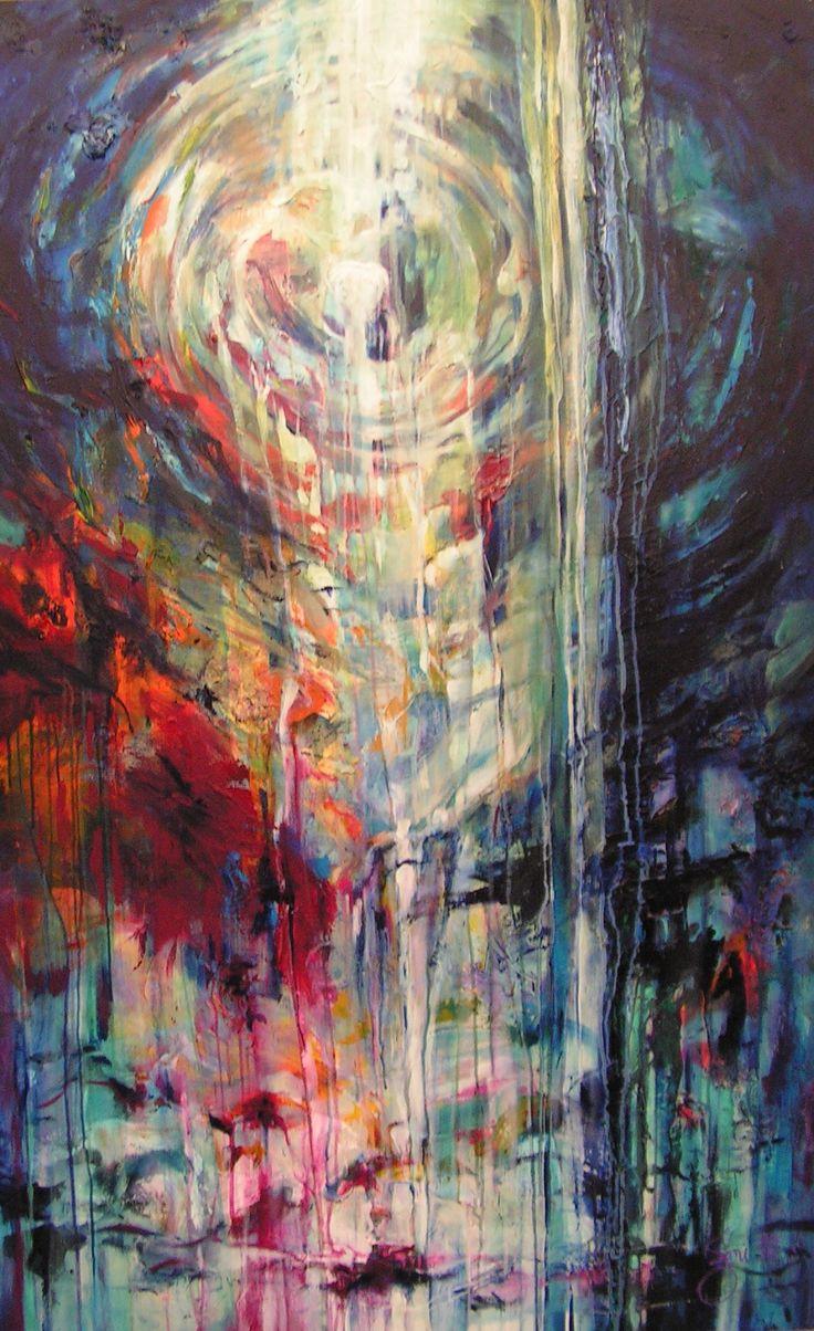 Christus in ons... Acryl op doek. 100x160cm.