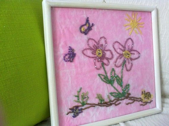 flowers made of beads by KaterinakiJewelry on Etsy