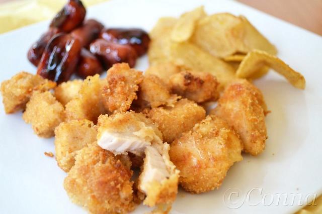 Κοτομπουκιές στο φούρνο / Oven chicken bites