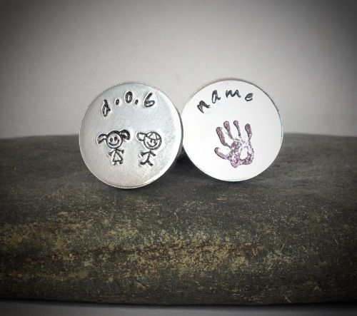 Personalised Hand Stamped Gift for Father's DayPersonalised Cuff Links £12