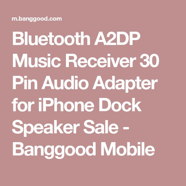 Bluetooth A2DP Music Receiver 30 Pin Audio Adapter for iPhone Dock Speaker Sale - Banggood Mobile