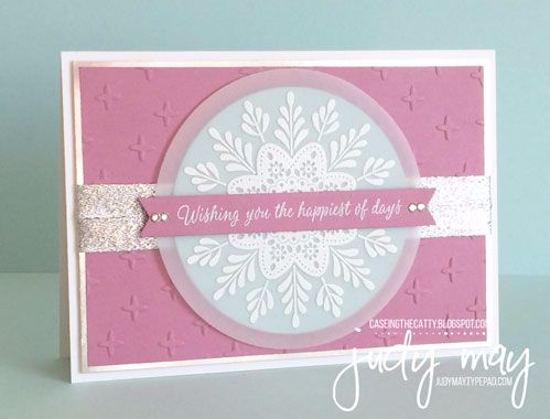 Stampin' Up! Frosted Medallions for CTC105 - Judy May, Just Judy Designs