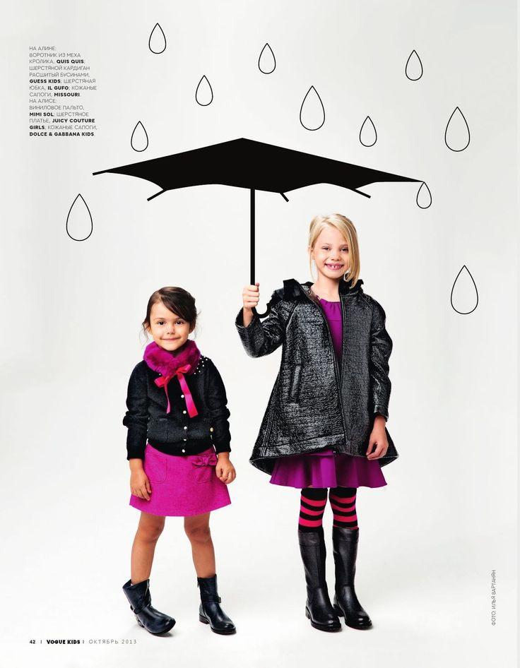 VOGUE Kids September 2013. Models Alina Nivia & Alisa #vogue #voguekids #editorial #magazine