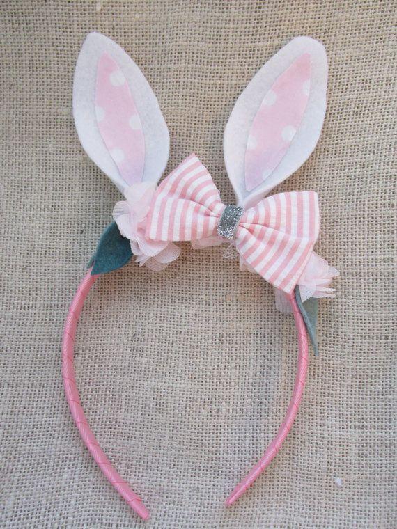 Bunny Headband Easter Headband Rabbit Headband by VivibellesBows
