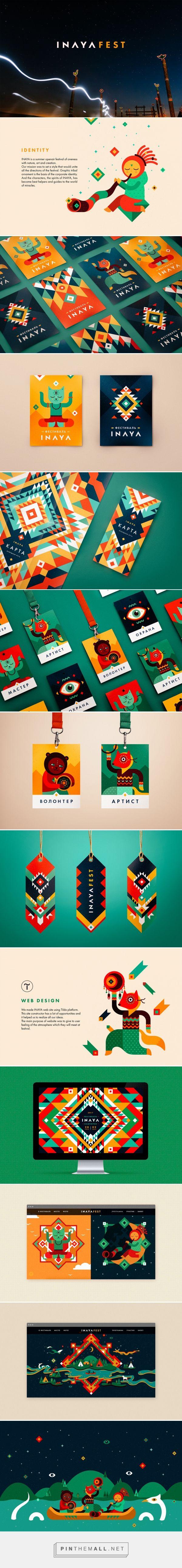 INAYA Festival identity on Behance #visual identity #branding #pattern