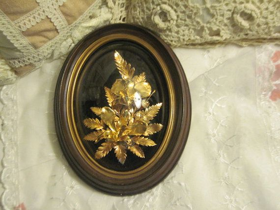 Hawaiian Leaves and Flowers 24  karat gold by Daysgonebytreasures