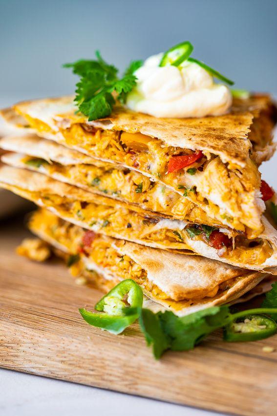 Spicy Chicken Quesadillas Simply Delicious In 2020 Spicy Recipes Spicy Lunch Spicy Chicken Recipes