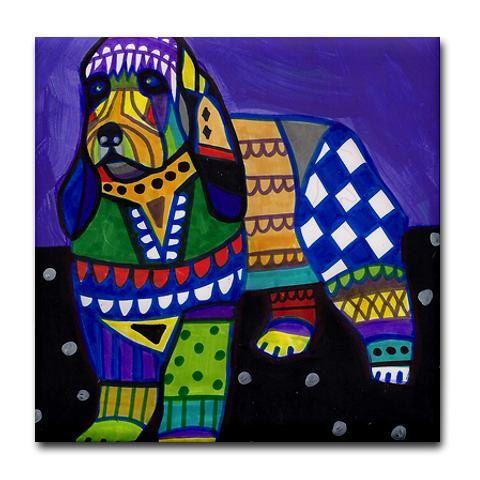 Briquet Griffon Vendeen coasters  dog coasters by HeatherGallerArt, $20.00