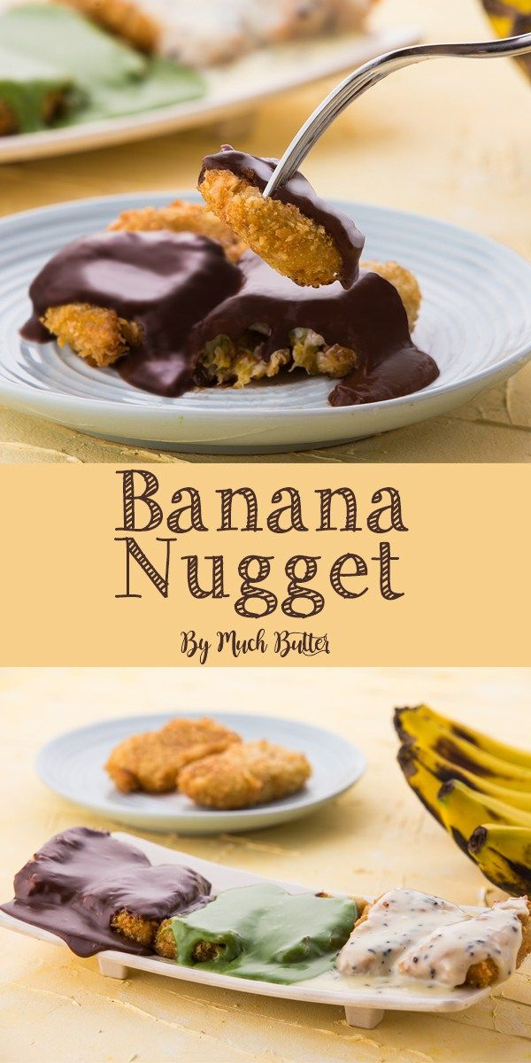Resep Banana Nugget : resep, banana, nugget, Banana, Nugget?!, Absolutely, Crunchy, Outside, Inside, Poured, Melted, Flavoured, White, Chocolate, Makes, Sweet, Sauce,, Food,, Recipes