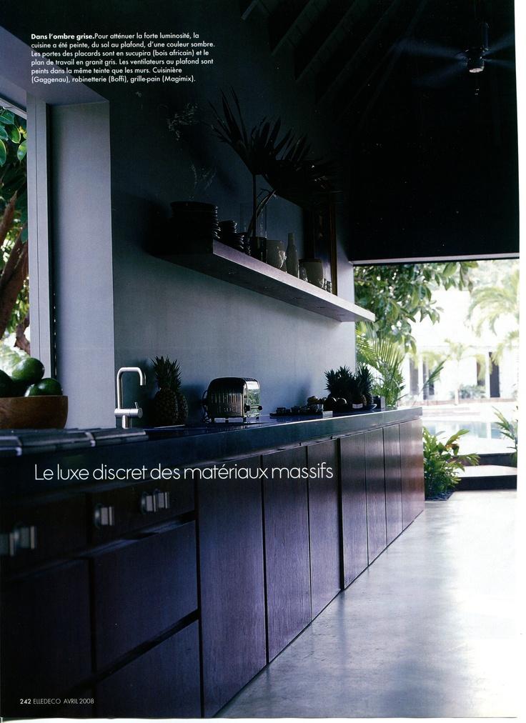 plan de travail granit gris meubles sucupira design architecture pinterest. Black Bedroom Furniture Sets. Home Design Ideas