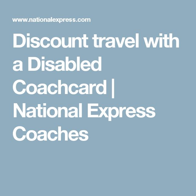 Discount travel with a Disabled Coachcard | National Express Coaches