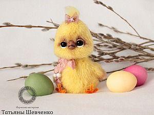 Вяжем пушистого цыплёнка | Ярмарка Мастеров - ручная работа, handmade