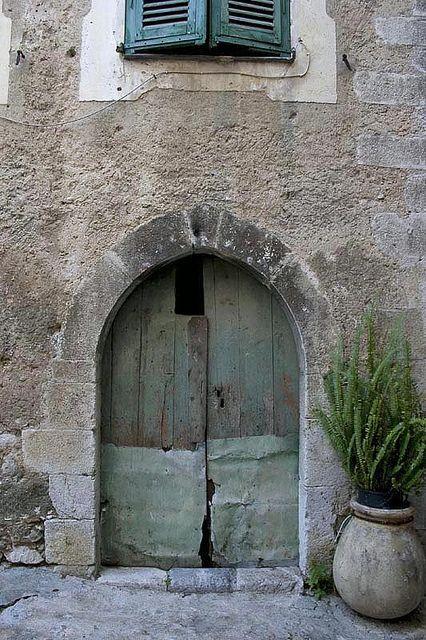 Doorway in Gorbio, Provence | by Rita Crane