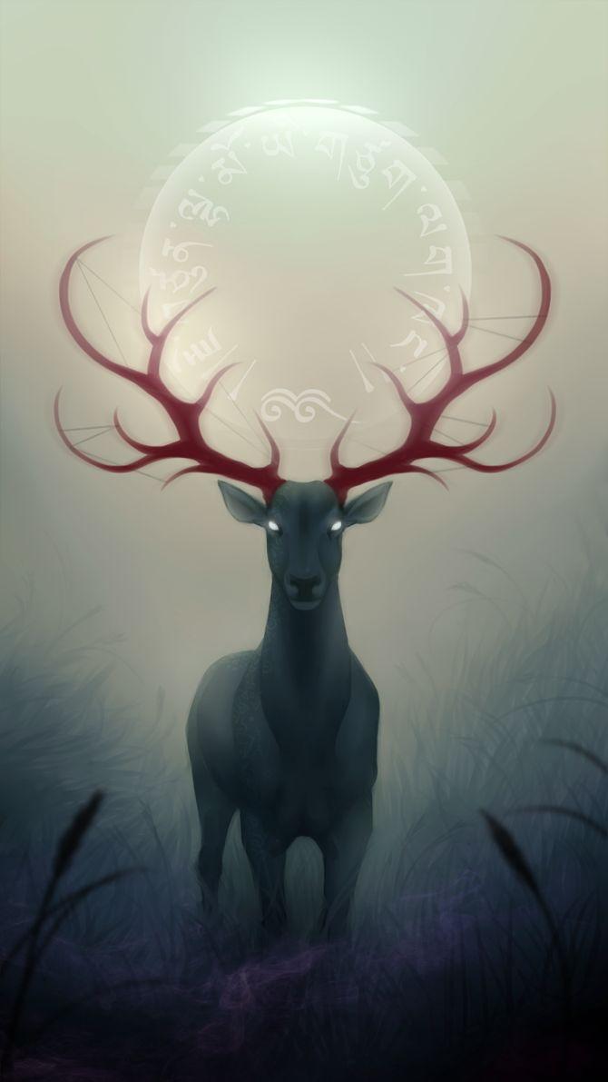 The Greenman, Cernunnos /Herne the Hunter... Shaman By Artist CattSparrow...
