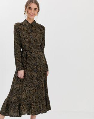 a4d2f16a4 New Look midi shirt dress in print in 2019 | My Style | Midi shirt ...