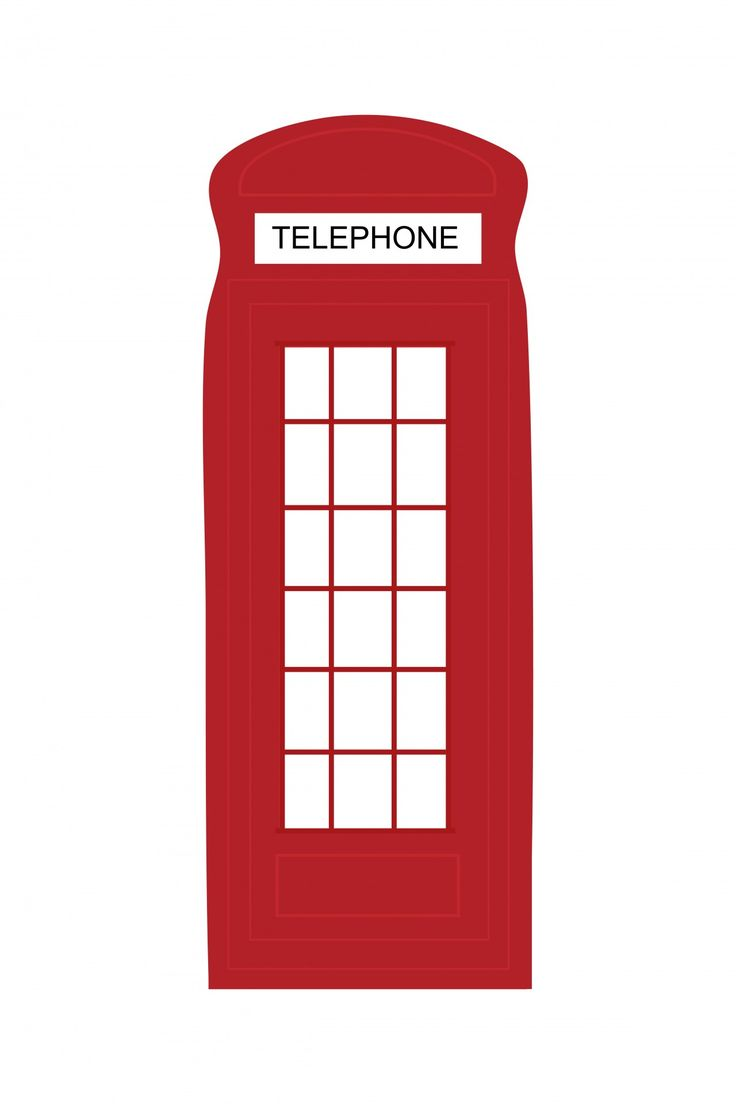 London Telephone Box Clipart