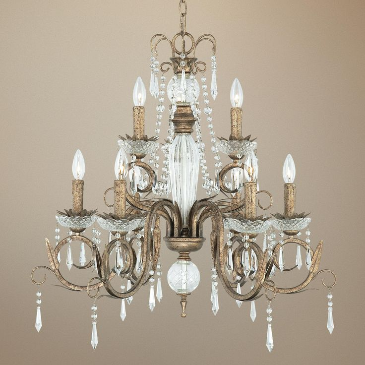 "Kathy Ireland European Treasure 28 1 4"" Crystal Chandelier"