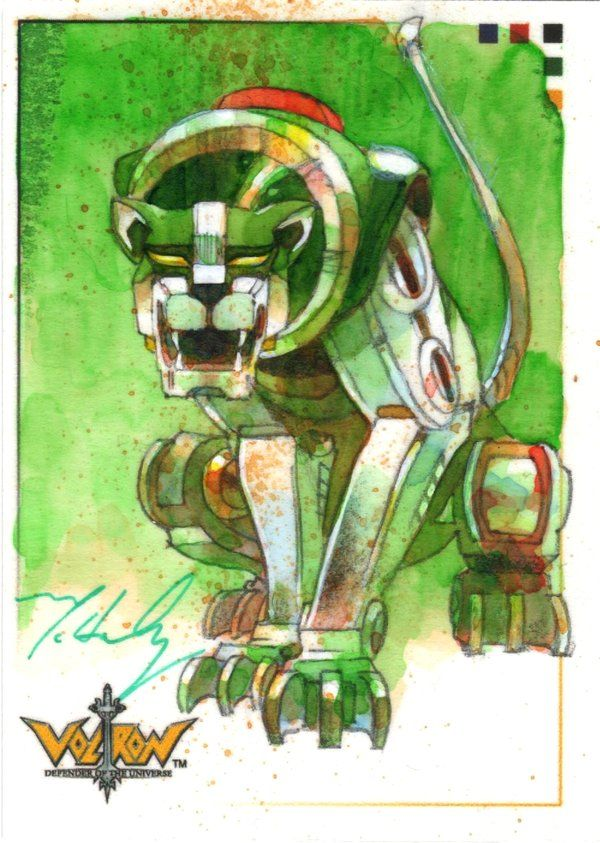 VOLTRON Green Lion by markmchaley on DeviantArt