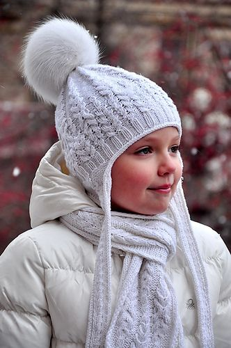 Stylish Fern Field Hat with earflaps knitted with unusual cable pattern will delight girls of all ages and will provide warmth and attention in any frost!