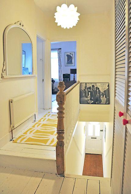 Hallway - white floorboards