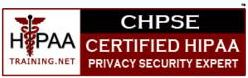 HIPAA Compliance Training will prepare you for Online HIPAA certification test of Certified HIPAA Privacy Security Expert (CHPSE).