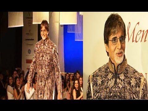 Amitabh Bachchan walks the ramp for MEN FOR MIJWAN fashion show.