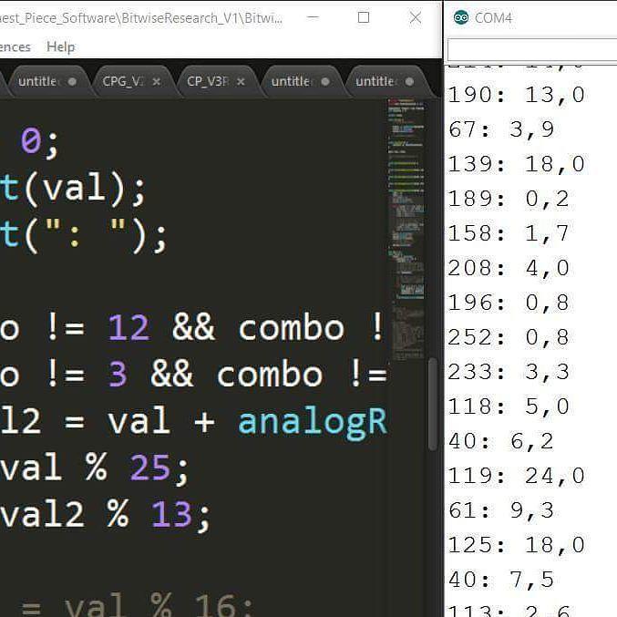 My custom random number generator is finally starting to work. #random #generator #pseudo #prng #arduino #bytes #memory #leds #snowflake by gdop26